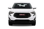 Car photography straight front view of a 2018 GMC Terrain SLE FWD 5 Door SUV