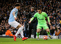 FC Schalke 04&rsquo;s Yevhen Konoplyanka under pressure from Manchester City's Kyle Walker<br /> <br /> Photographer Rich Linley/CameraSport<br /> <br /> UEFA Champions League Round of 16 Second Leg - Manchester City v FC Schalke 04 - Tuesday 12th March 2019 - The Etihad - Manchester<br />  <br /> World Copyright &copy; 2018 CameraSport. All rights reserved. 43 Linden Ave. Countesthorpe. Leicester. England. LE8 5PG - Tel: +44 (0) 116 277 4147 - admin@camerasport.com - www.camerasport.com