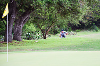 Keegan Bradley (USA) lines up a chip shot from under a tree on 8 during round 1 of the Valero Texas Open, AT&amp;T Oaks Course, TPC San Antonio, San Antonio, Texas, USA. 4/20/2017.<br /> Picture: Golffile | Ken Murray<br /> <br /> <br /> All photo usage must carry mandatory copyright credit (&copy; Golffile | Ken Murray)