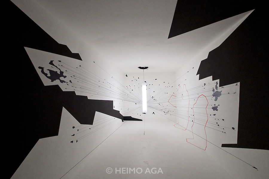 Venice, Italy - 15th Architecture Biennale 2016, &quot;Reporting from the Front&quot;.<br /> International Pavilion.<br /> Forensic Architecture.