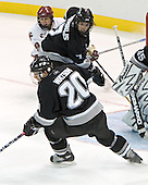 Nathan Gerbe, Dinos Stamoulis, Chase Watson  The Boston College Eagles defeated the Providence College Friars 3-2 in regulation on October 29, 2005 at Kelley Rink in Conte Forum in Chestnut Hill, MA.  It was BC's first Hockey East win of the season and Providence's first HE loss.