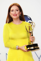 09/23/12 Los Angeles, CA: Julianne Moore, Emmy winner for Outstanding lead actress in a mini series or a movie back stage during the 64th Primetime Emmy Awards held at NOKIA Theatre LA LIVE.