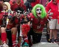 The Georgia Bulldogs played North Texas Mean Green at Sanford Stadium.  After North Texas tied the game at 21 early in the second half, the Georgia Bulldogs went on to score 24 unanswered points to win 45-21.  Georgia fans.