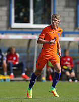 Mees Hoedemakers (AZ Alkmaar) of Holland during the International match between England U19 and Netherlands U19 at New Bucks Head, Telford, England on 1 September 2016. Photo by Andy Rowland.