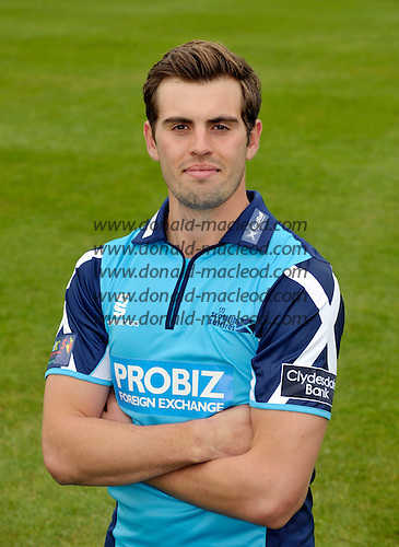 STOCK - cricket - Scotland and Scottish Saltires - Calum MacLeod (Uddingston CC) - photographed in the new 2012 Cricket Scotland CB40 playing shirt - Picture by Donald MacLeod  03.5.12  07702 319 738  clanmacleod@btinternet.com