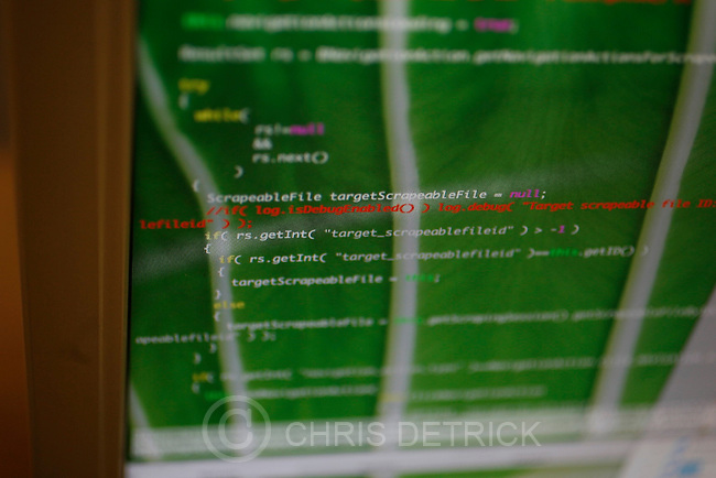 """President Todd Wilson's computer screen at the Screen-Scraper office in Provo, Utah Thursday October 7, 2010.  Screen-Scraper specializes in extracting data on the internet and has business since 2002..CREDIT: Chris Detrick for The Wall Street Journal.""""WTKSCRAPE"""""""