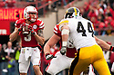 25 November 2011: quarterback Taylor Martinez #3 of the Nebraska Cornhuskers drops back to pass against the Iowa Hawkeyes at the Memorial Stadium in Lincoln, Nebraska. Nebraska defeated Iowa 20 to 7.
