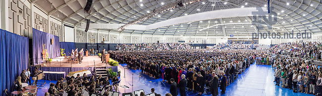 May 17, 2015; Mendoza College of Business Undergraduate Commencement ceremony. (Photo by Matt Cashore/University of Notre Dame)