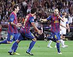 UEFA Champions League, Spain, Camp Nou, FC Barcelona v Viktoria Plzen. Picture show Andres Inesta