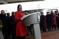 Greenbelt, MD - January 6, 2014:  NTSB Chairman Deborah Hersman speaks at a news conference with other officials announcing the arrival of new 7000-series rail cars. (Photo by Don Baxter/Media Images International)