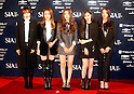 4Minute, Oct 28, 2014 : South Korean girl group 4Minute arrives before the 2014 Style Icon Awards (SIA) in Seoul, South Korea. The SIA is a style and culture festival. (Photo by Lee Jae-Won/AFLO) (SOUTH KOREA)