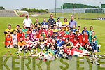 SKILLS: Boys and Girls from Primary Schools around Kerry who took part in the Kerry Primary School Hurling skills on Thursday at Austin Stack Park, Tralee, under the supervision of John Bergin (South Kerry Hurling Coach)..