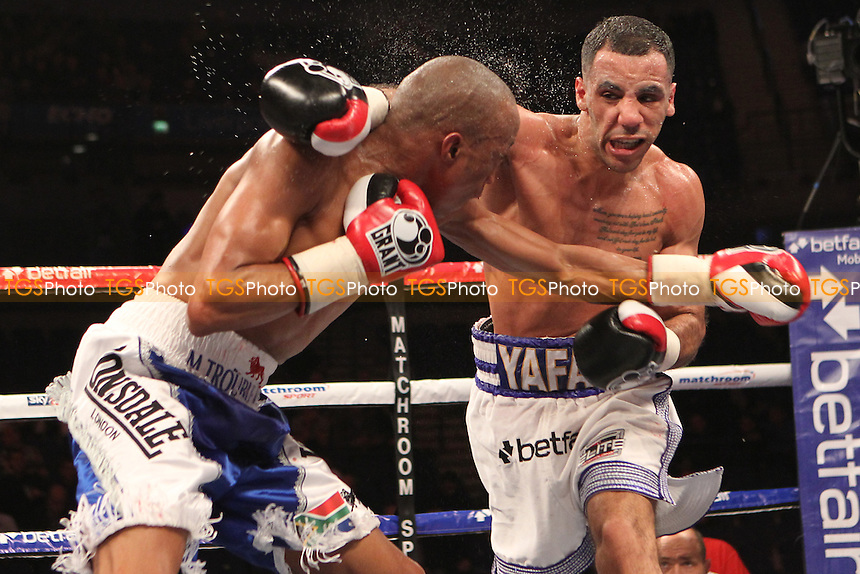 Khalid Yafai vs Michael Ramabeletsa in a boxing contest at the Echo Arena, Liverpool, promoted by Matchroom Sports - 29/03/12 - MANDATORY CREDIT: Chris Royle/TGSPHOTO - Self billing applies where appropriate - 0845 094 6026 - contact@tgsphoto.co.uk - NO UNPAID USE.