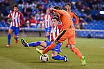Atletico de Madrid's José María Giménez and SD Eibar's Ruben Peña Jimenez during Copa del Rey match between Atletico de Madrid and SD Eibar at Vicente Calderon Stadium in Madrid, Spain. January 19, 2017. (ALTERPHOTOS/BorjaB.Hojas)