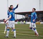 Fraser Aird celebrates with goalscorer Jon Daly