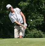 Kolten Bauer of the Rolling Hills Golf Club chips onto the green on the second day of the Metropolitan Amateur Golf Association's 20th Junior Amateur Championship being held at the St. Clair Country Club in Belleville, IL on July 2, 2019. <br /> Tim Vizer/Special to STLhighschoolsports.com