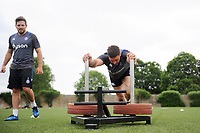 Matt Banahan of Bath Rugby in action. Bath Rugby pre-season S&C session on June 22, 2017 at Farleigh House in Bath, England. Photo by: Patrick Khachfe / Onside Images