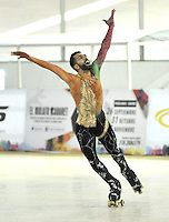 CALI – COLOMBIA – 22 – 09 – 2015: Daniel Morandin, deportista de Italia, Solo Danza Mayores Varones en el LX Campeonato Mundial de Patinaje Artistico, en el Velodromo Alcides Nieto Patiño de la ciudad de Cali. / Daniel Morandin, sportman from Italy, during the Senior Solo Dance Men, in the LX World Championships Figure Skating, at the Alcides Nieto Patiño Velodrome in Cali City. Photo: VizzorImage / Luis Ramirez / Staff.