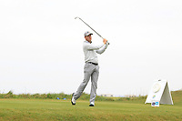 Murray Naysmith (SCO) on the 1st tee during Round 1of the Flogas Irish Amateur Open Championship 2019 at the Co.Sligo Golf Club, Rosses Point, Sligo, Ireland. 16/05/19<br /> <br /> Picture: Thos Caffrey / Golffile<br /> <br /> All photos usage must carry mandatory copyright credit (© Golffile | Thos Caffrey)