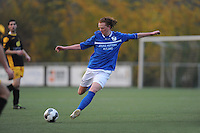 VOETBAL: BOLSWARD: 22-11-2014, SC Bolsward - VV Nijland, uitslag 0-3, Nico Pieter Bonnema (#9) van Nijland, ©foto Martin de Jong