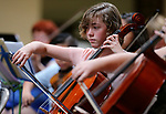 Alyssa Butler, 11, performs in the Carson City Symphony's Youth Strings Summer Program concert in Carson City, Nev., on Thursday, July 27, 2017. <br />