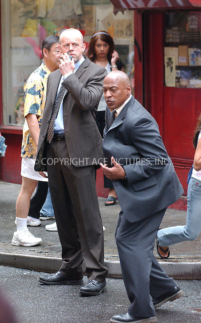 WWW.ACEPIXS.COM . . . . . ....NEW YORK, JULY 7, 2005 ....David Morse and Cylk Cozart on the set of the new movie '16 Blocks.' ....Please byline: KRISTIN CALLAHAN - ACE PICTURES.. . . . . . ..Ace Pictures, Inc:  ..Craig Ashby (212) 243-8787..e-mail: picturedesk@acepixs.com..web: http://www.acepixs.com