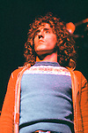 The Who 1972 Roger Daltrey during Tommy at the Rainbow Theatre.© Chris Walter.