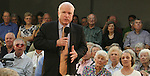 Gary Wilcox/staff... 03/28/07... Sen. John McCain talks to a  crowd of 400 people at Fleet Landing last Wednesday. (03/28/07),..