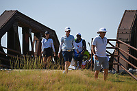 Alena Sharp (CAN) makes her way across the bridge near the tee on 2 during the round 3 of the Volunteers of America Texas Classic, the Old American Golf Club, The Colony, Texas, USA. 10/5/2019.<br /> Picture: Golffile   Ken Murray<br /> <br /> <br /> All photo usage must carry mandatory copyright credit (© Golffile   Ken Murray)