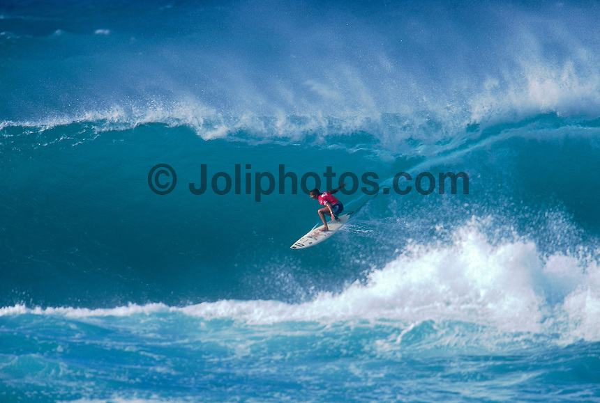 Layne Beachley (AUS) 1st Roxy Pro Beach Hawaii 1999. Photo:  joliphotos.com