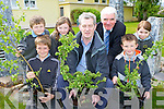 Padraig O'Sullivan from Beaufort Tidy towns presents a number of native Irish trees to Cullina NS, Beaufort as part of the school's Green Flag project on Tuesday front row l-r: Liam O'Connor, Padraig O'Sullivan, Tomas Garland. Martin Sayers, Nicola English, Bertie O'Connor Principal and Olivia Brosnan..
