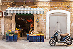 A small shop in the alleyways of Bari in Italy
