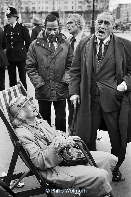 Singer, Speakers Corner, Hyde Park, London; April 1980.