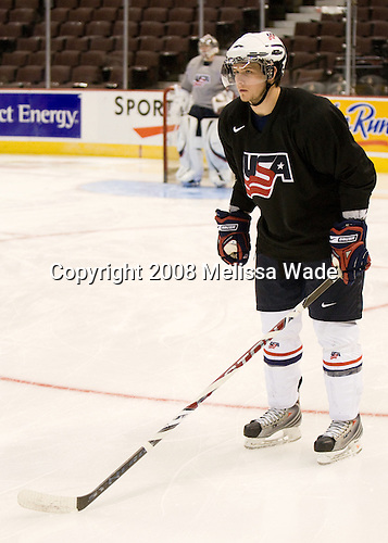 Teddy Ruth (USA - 5) - Team USA practiced Saturday morning, December 27, 2008, at the Scotiabank Place in Kanata (Ottawa), Ontario during the 2009 World Juniors Championship.