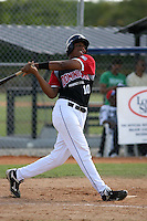 Edward Pena participates in the Dominican Prospect League showcase at the New York Yankees academy on September 19,2013 in Boca Chica, Dominican Republic.