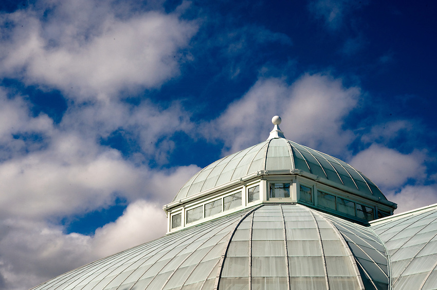 The Eunice A. Haupt Conservatory at the New York Botanical Garden.