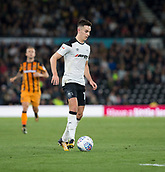 8th September 2017, Pride Park Stadium, Derby, England; EFL Championship football, Derby County versus Hull City; Tom Lawrence of Derby County on the ball