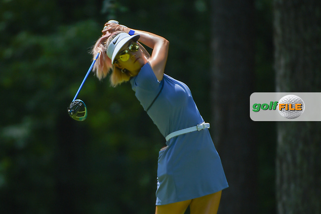 Michelle Wie (USA) watches her tee shot on 2 during round 3 of the U.S. Women's Open Championship, Shoal Creek Country Club, at Birmingham, Alabama, USA. 6/2/2018.<br /> Picture: Golffile   Ken Murray<br /> <br /> All photo usage must carry mandatory copyright credit (© Golffile   Ken Murray)
