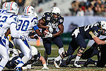 Navy Midshipmen fullback Chris Swain (37) in action during the Armed Forces Bowl game between the Middle Tennessee Blue Raiders and the Navy Midshipmen at the Amon G. Carter Stadium in Fort Worth, Texas. Navy defeated Middle Tennessee 24 to 6.
