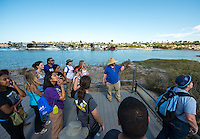 Incoming Occidental College students participate in Oxy Engage as they tour the Back Bay Science Center in Newport Beach on August 22, 2013. (Photo by Marc Campos, Occidental College Photographer)