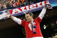 Atletico de Madrid's supporter during Champions League 2015/2016 Quarter-Finals 2nd leg match. April 13,2016. (ALTERPHOTOS/Acero) <br /> Madrid 13/4/2016 Vicente Calderon <br /> Football Calcio 2015/2016<br /> Champions League Quarti di finale <br /> Atletico Madrid - Barcellona <br /> Foto Alterphotos / Insidefoto <br /> ITALY ONLY