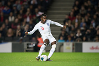 Eddie Nketiah (Leeds United (on loan from Arsenal) of England U21 takes a penalty which is saved during the UEFA Euro U21 International qualifier match between England U21 and Austria U21 at Stadium MK, Milton Keynes, England on 15 October 2019. Photo by Andy Rowland.