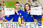 Castleisland Community College students Dawid Knurowski and Kayla Whooley whose Google Doodle's have reached the semi final in Google competition