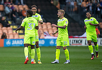 GOAL!!! Tariqe Fosu of Colchester United strikes to score the 1st goal and celebrates during the EFL Sky Bet League 2 match between Barnet and Colchester United at The Hive, London, England on the 17th September 2016. Photo by Liam McAvoy.