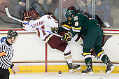 Pat Mullane (BC - 11), Kevan Miller (Vermont - 15) - The Boston College Eagles defeated the visiting University of Vermont Catamounts 6-0 on Sunday, November 28, 2010, at Conte Forum in Chestnut Hill, Massachusetts.