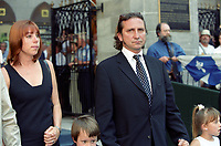 FILE PHOTO -  Franco Nuovo attend<br /> Pierre Bourgault<br /> funerals, June 16, 2003 at <br /> Notre Dame<br /> Basilica<br /> <br /> <br /> PHOTO : Agence quebec Presse