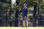 27 October 2013: Pittsburgh head coach Greg Miller. The Duke University Blue Devils hosted the Pittsburgh University Panthers at Koskinen Stadium in Durham, NC in a 2013 NCAA Division I Women's Soccer match. Duke won the game 6-3.
