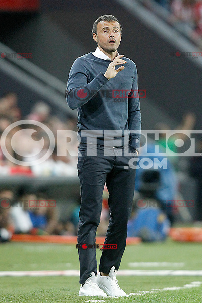 FC Barcelona's coach Luis Enrique Martinez during Supercup of Spain 1st match.August 14,2015. (ALTERPHOTOS/Acero)
