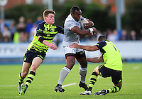 Semesa Rokoduguni takes on the Leinster defence. Semesa Rokoduguni of Bath Rugby takes on the Leinster defence. Pre-season friendly match, between Leinster Rugby and Bath Rugby on August 26, 2016 at Donnybrook Stadium in Dublin, Republic of Ireland. Photo by: Patrick Khachfe / Onside Images