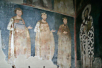 king Vladislav ,king Radoslav ,King Stephan the First-Crowned,procession of the Nemanyics,St. Savva,fresco,old narthex,Milesheva  Monastery of Ascension of the Lord , 1234-1235